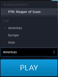 Diablo III PTR game account example.