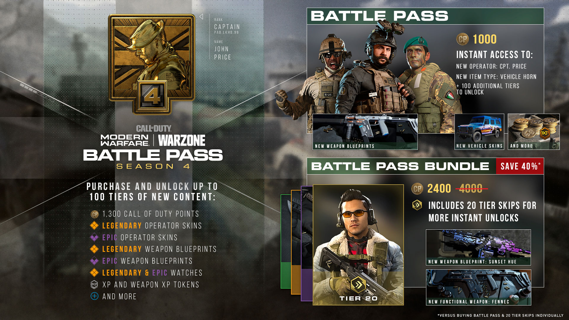 Unlock Up to 100 Tiers of Gear with the Battle Pass