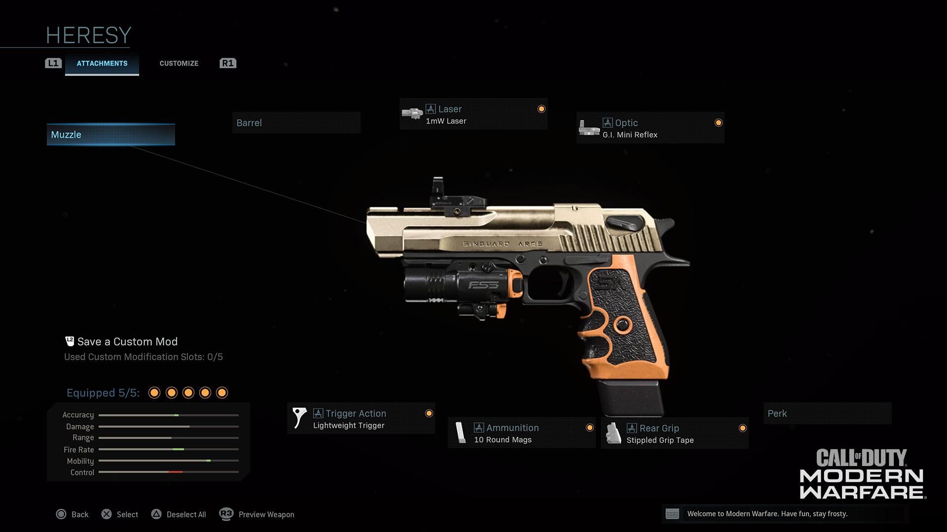 Heresy weapon skin