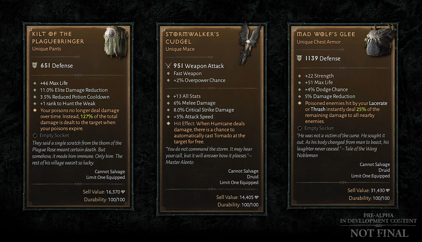 Also the return of Unique items. Hopefully we'll get more information at Blizzcon this year.