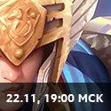 19:00 МСК 22 ноября
