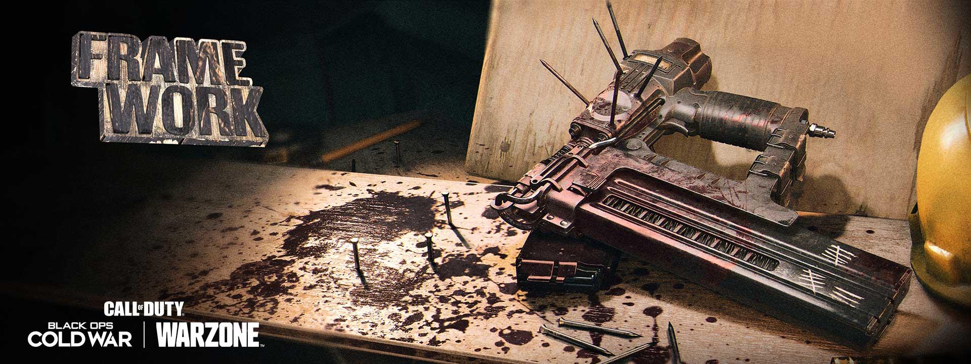 The Naaaaaaail Gun rests on a table