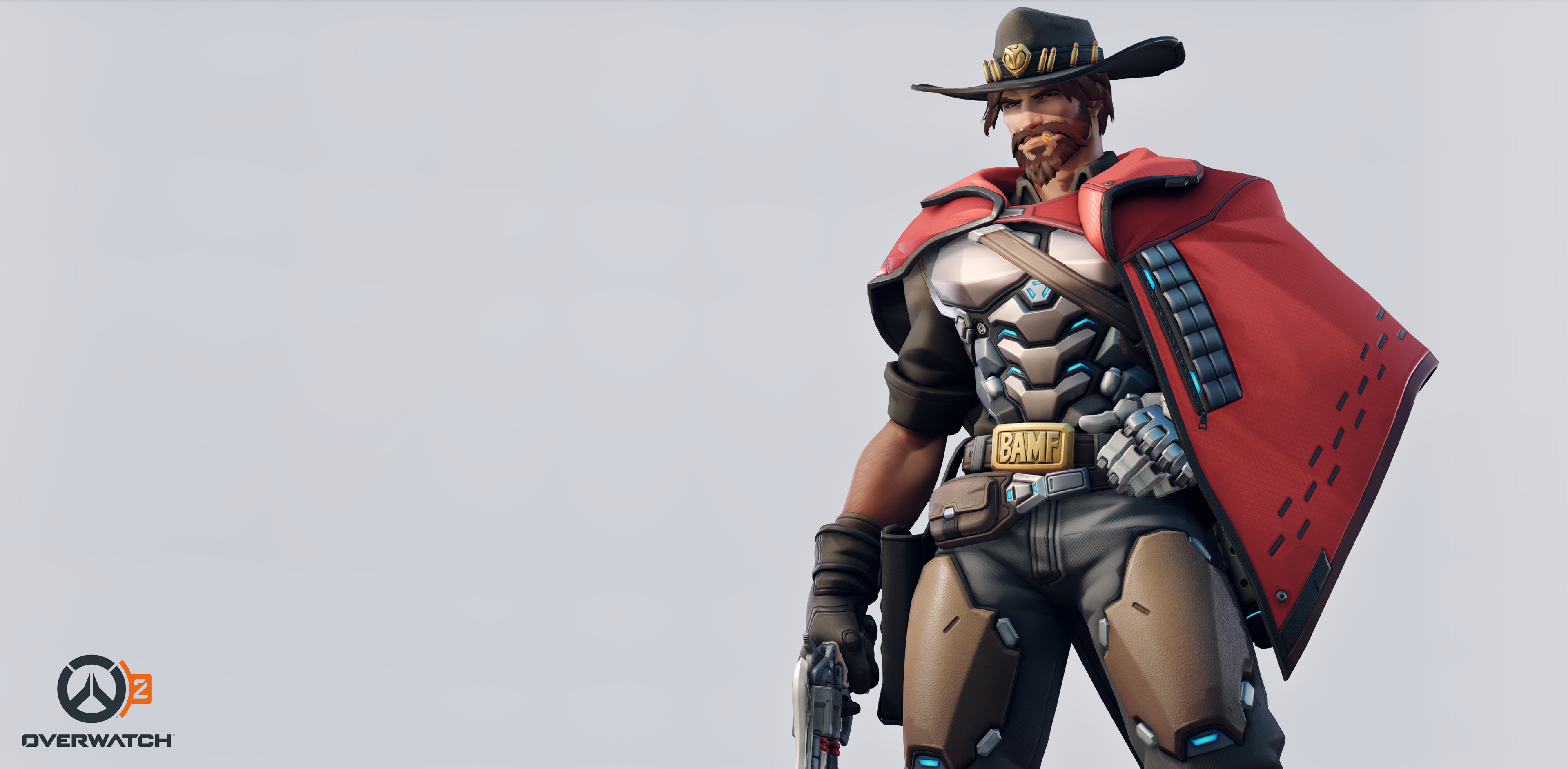 An image of McCree's new look in Overwatch 2.