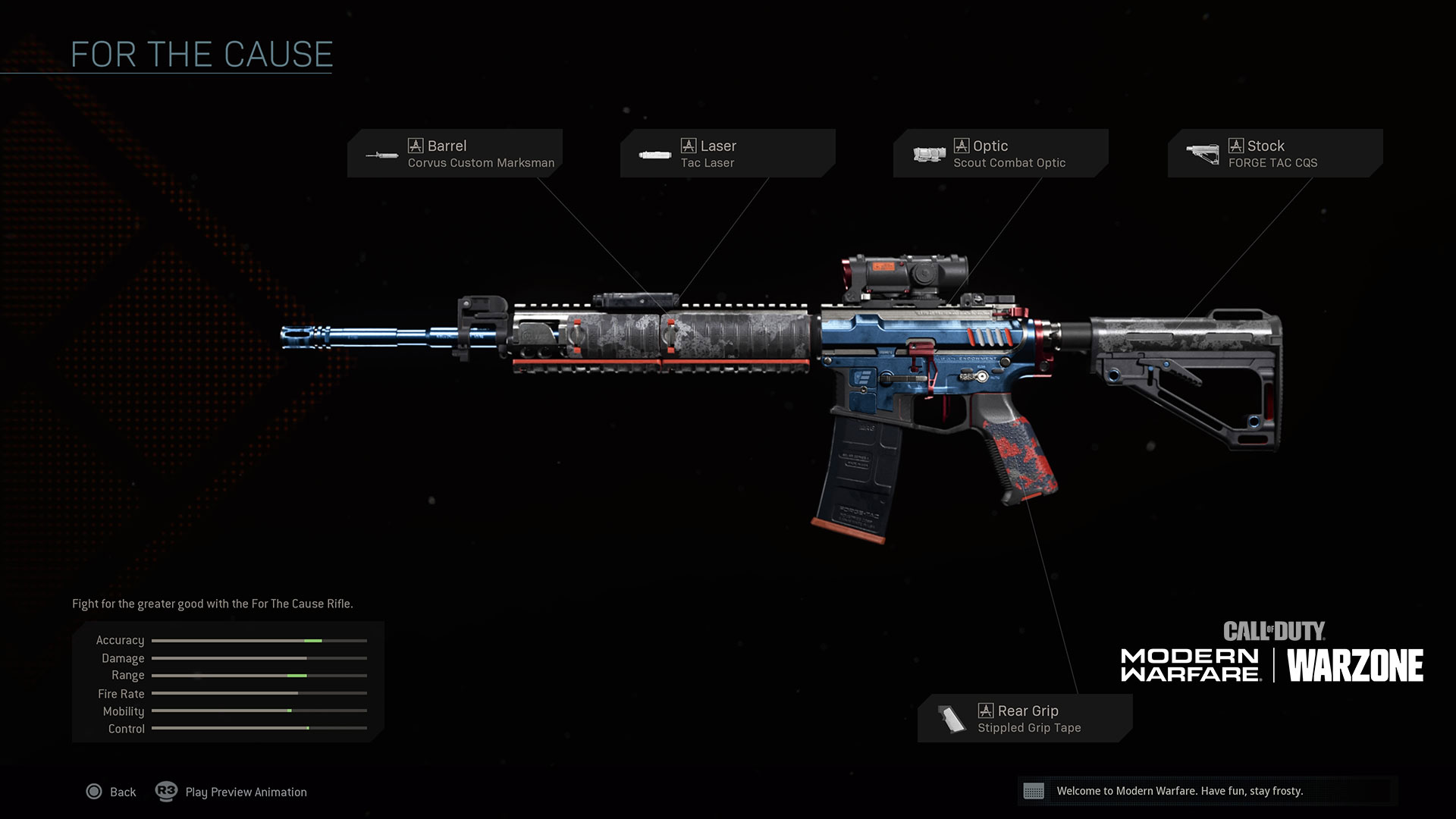 For the Cause Assault Rifle Blueprint