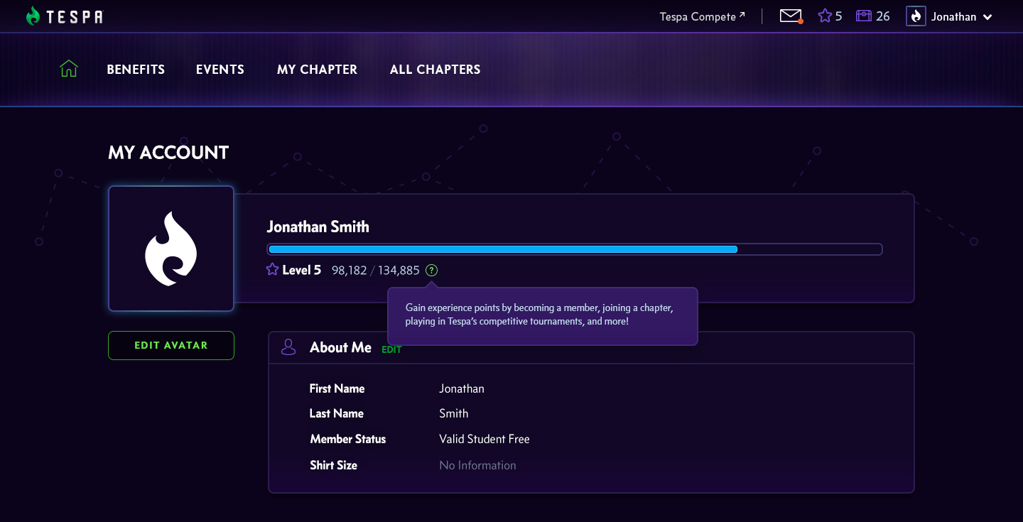 Level up your Tespa account!