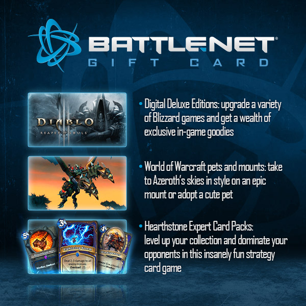 Introducing the Battle.net Gift Card - Wowhead News