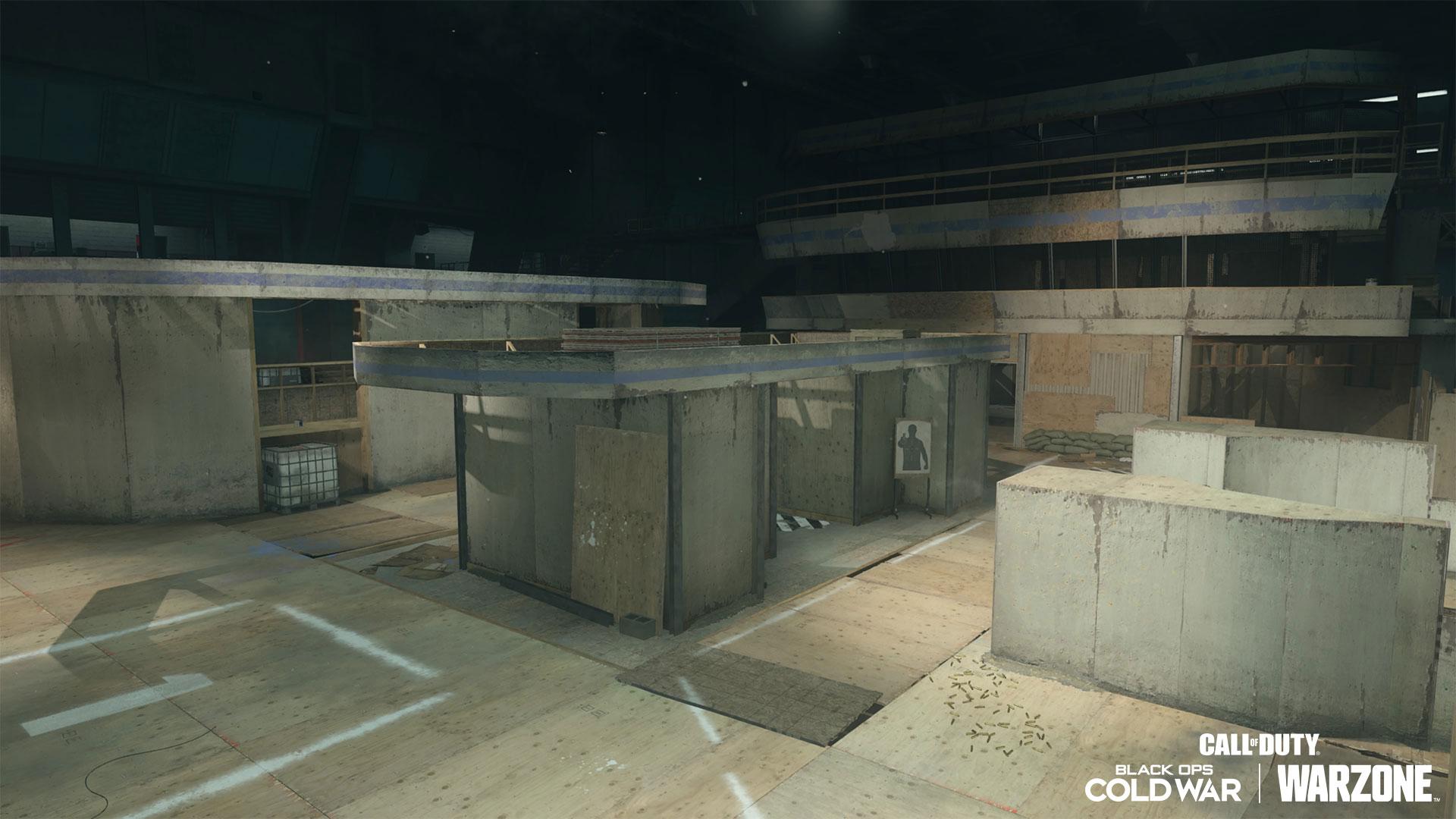 Concrete building interior