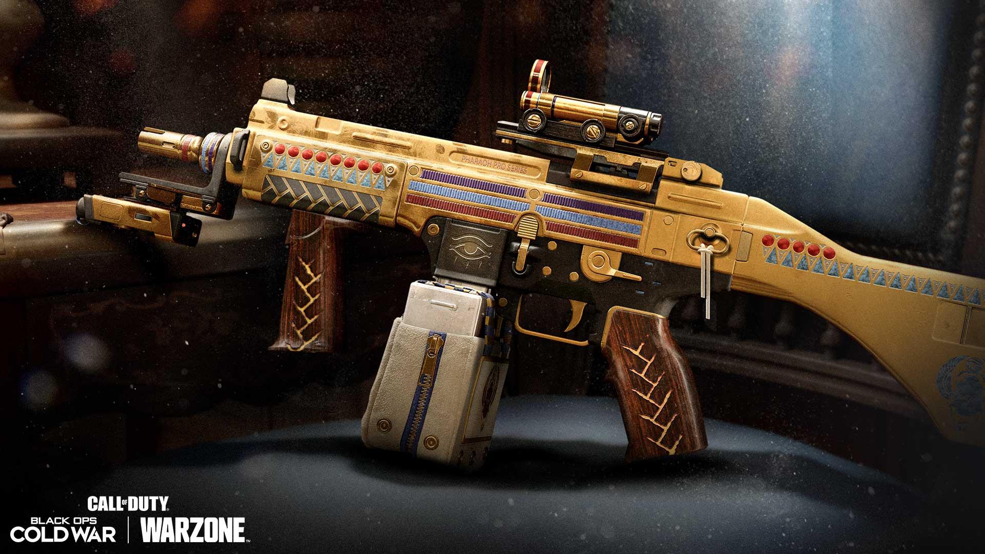 「遠古聖甲蟲」衝鋒槍藍圖(55級免費解鎖):