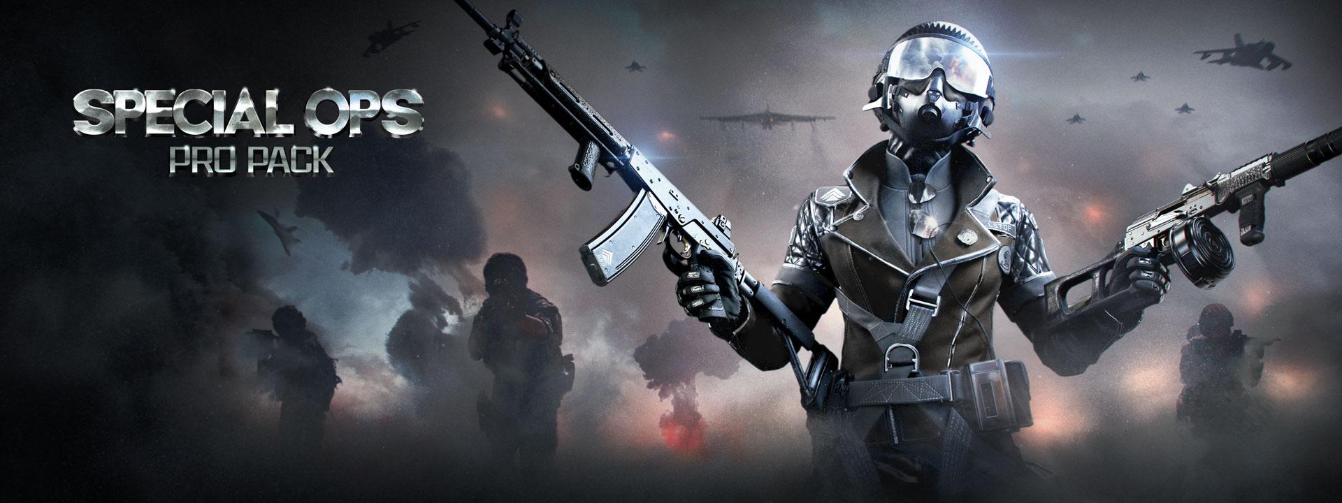 Frau, die ihre Identität hinter einer dunklen Maske verbirgt, hält zwei Sturmgewehre