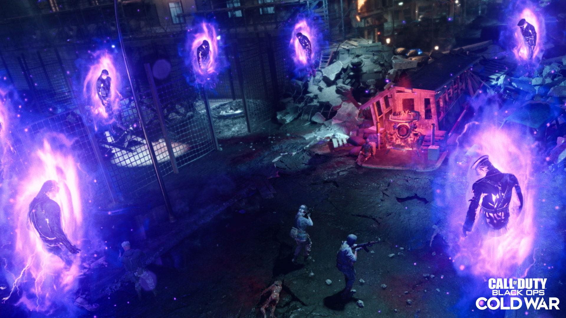 Purple glowing zombies