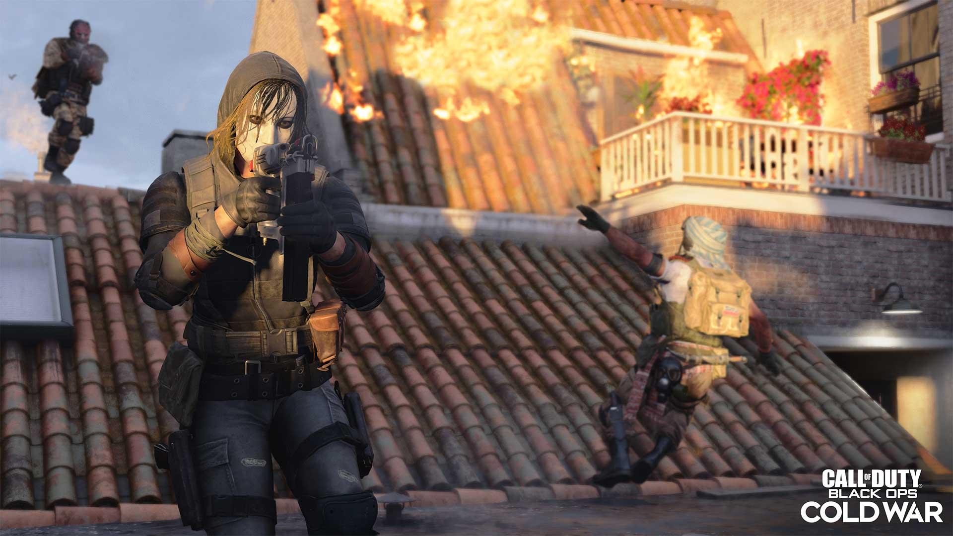 An Operator on a roof takes aim with their new Naaaaaaaail Gun