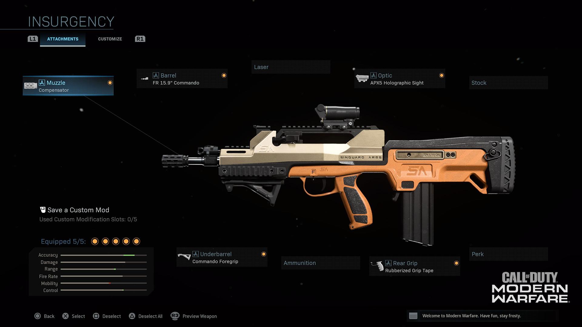 Insurgency weapon skin