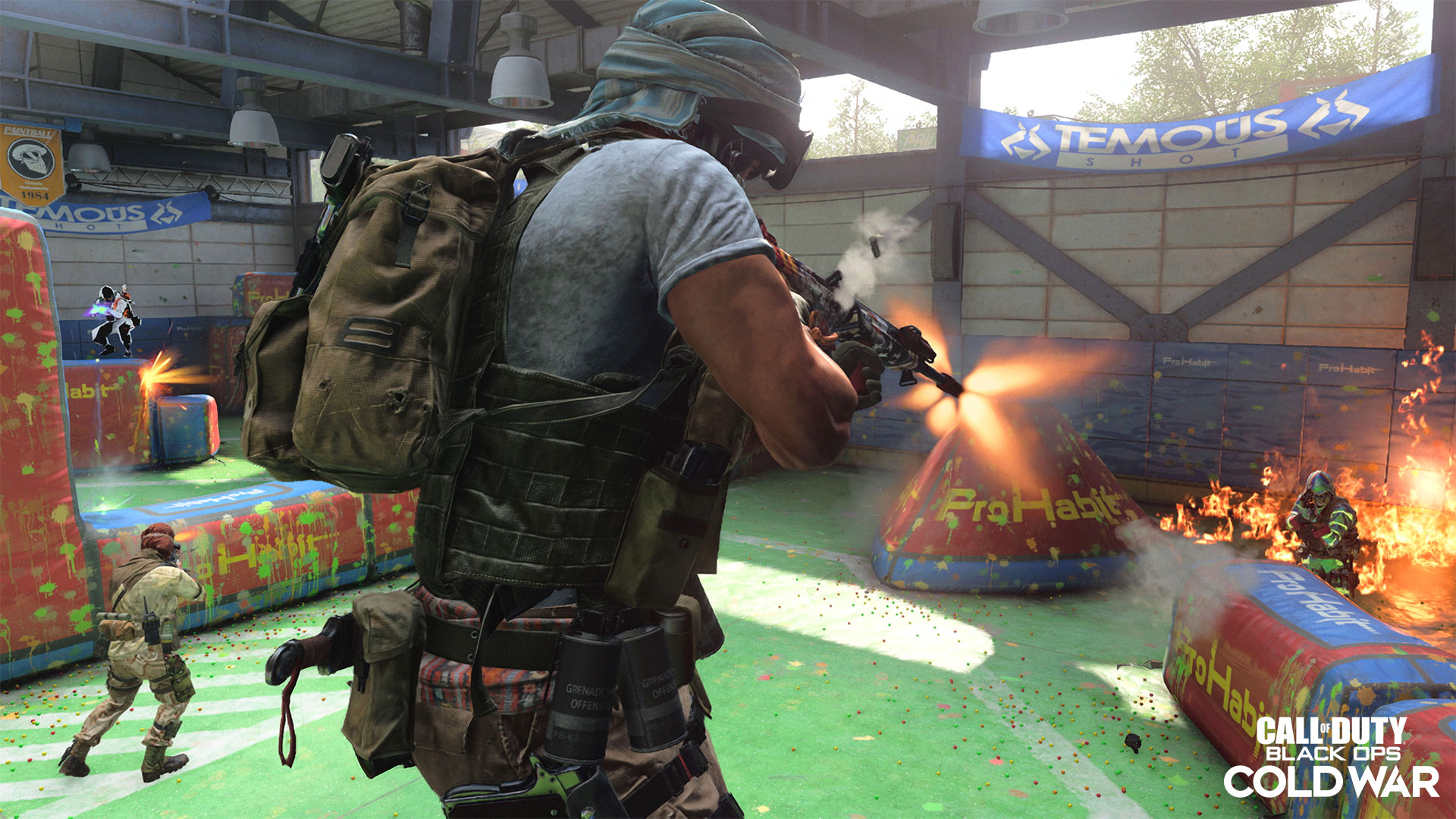 Another firefight in the paintball arena