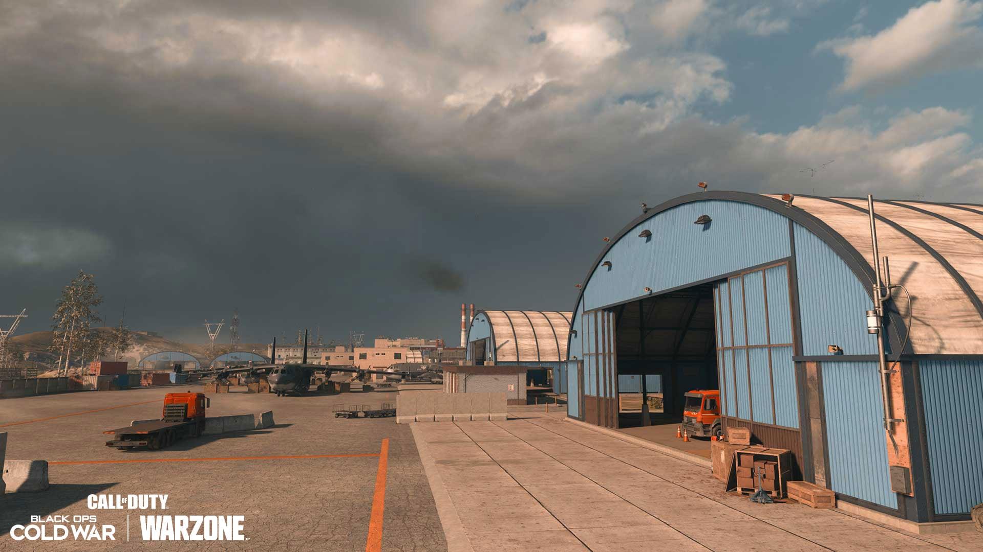 Blue warehouses