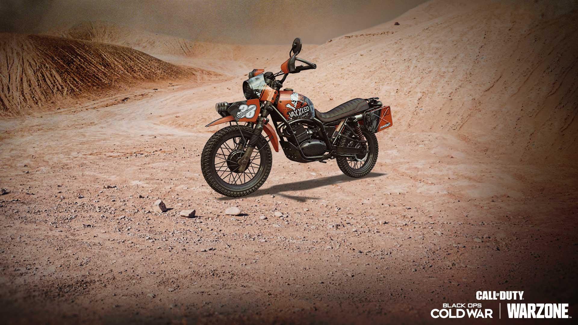 越野摩托車載具造型和第四季紋章: