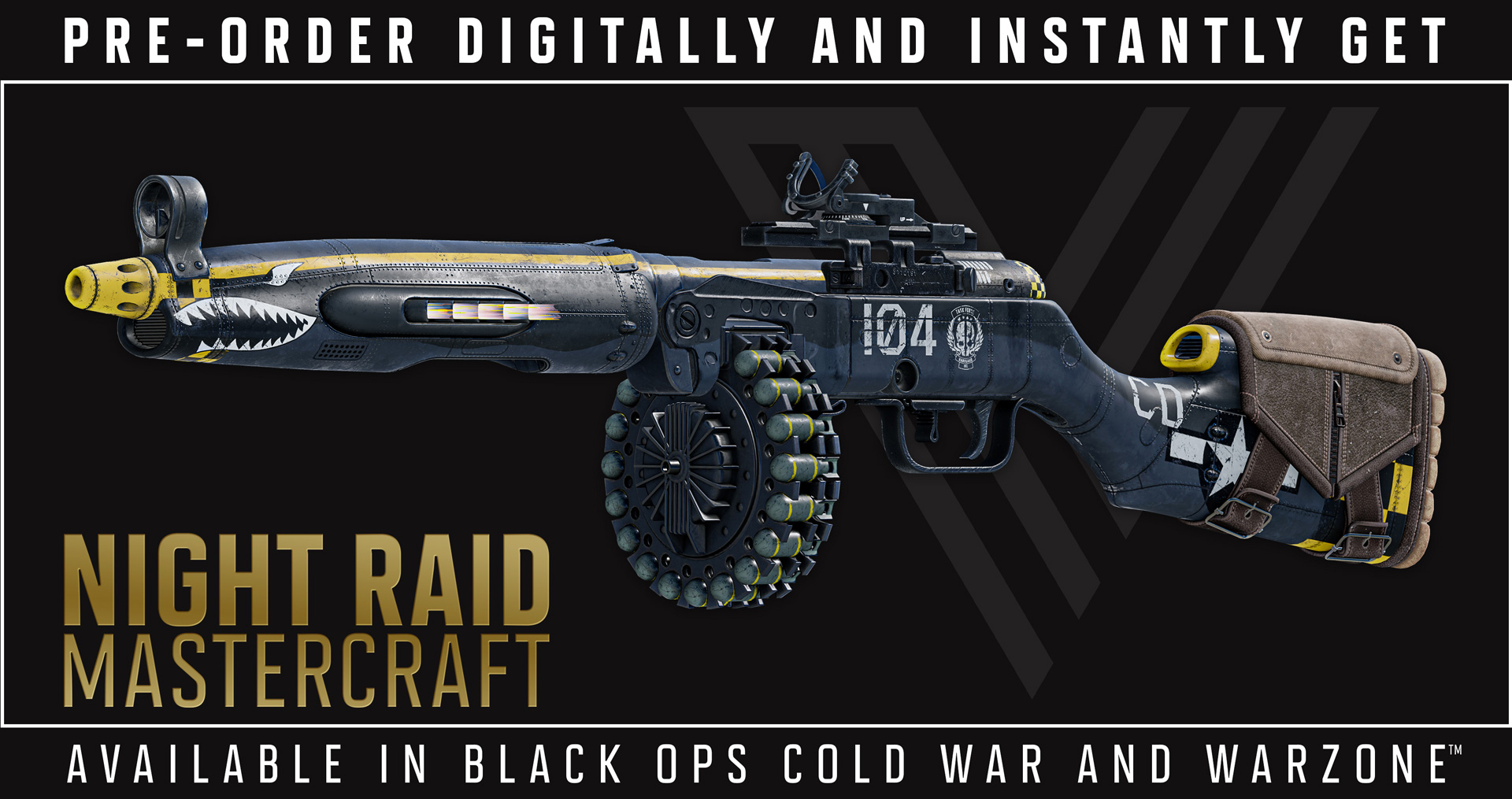 The Night Raid Mastercraft weapon in all its glory