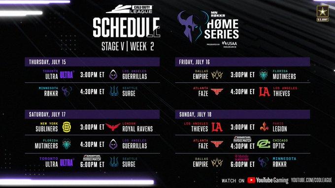 Home series schedule