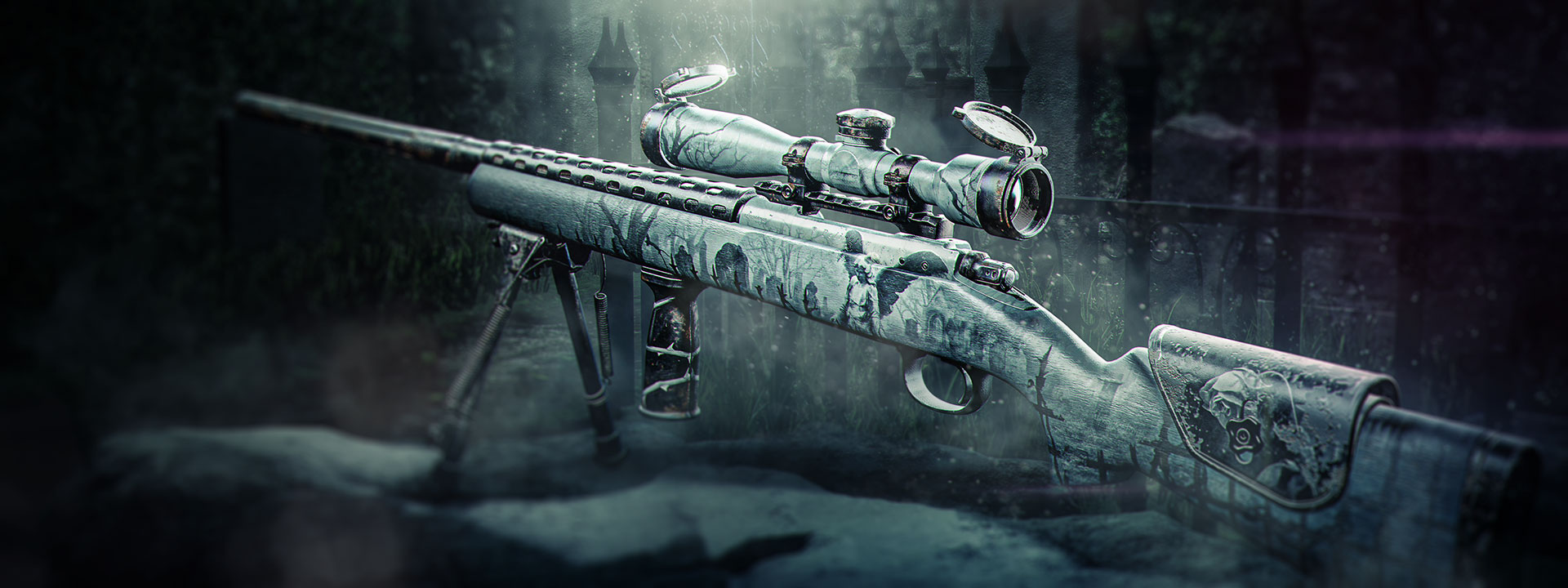 The Cemetary Thorn sniper rifle, looking grave