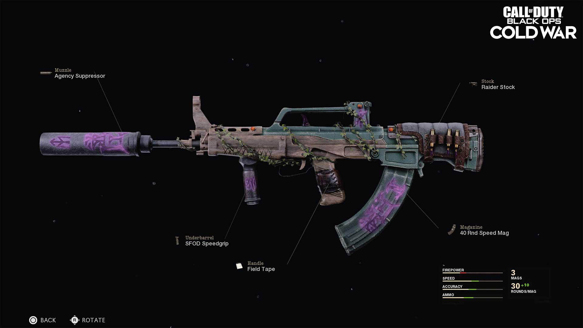 Legendary assault rifle Blueprint