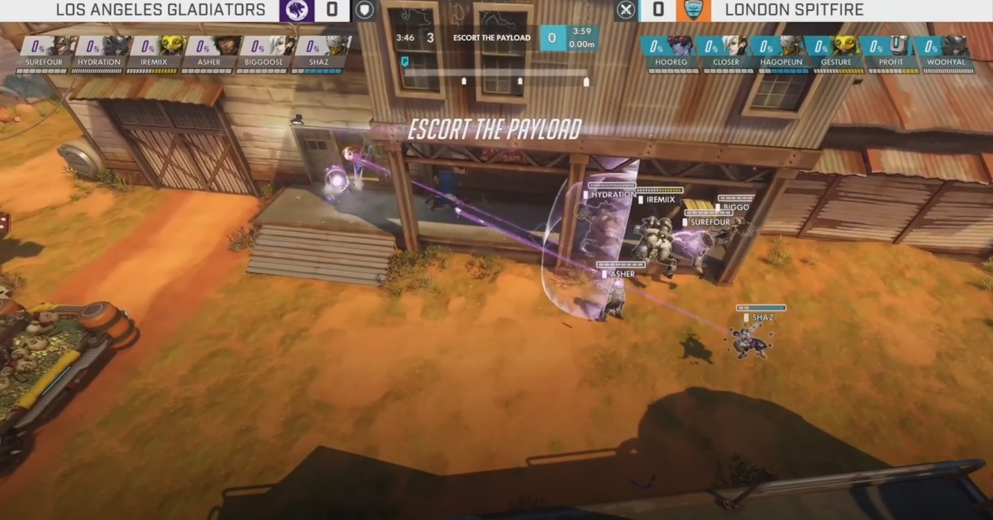 Gladiators vs Spitfire on Junkertown
