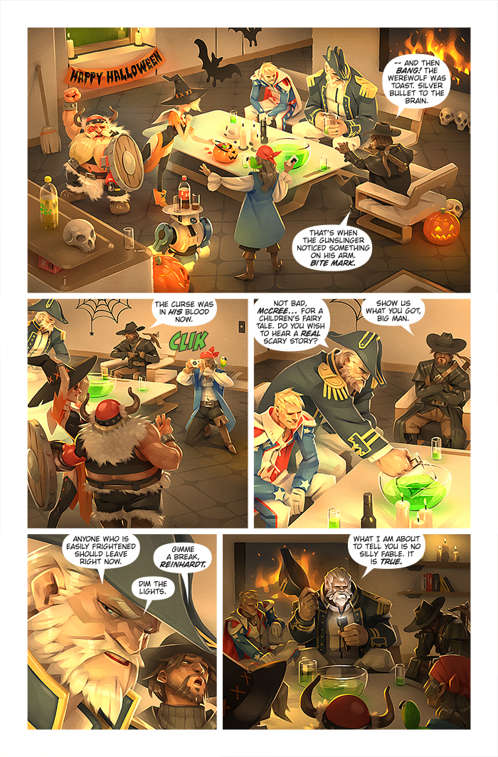 Image of: Funny Halloweencomicpg01owjpg Overwatch Overwatch Digital Comic