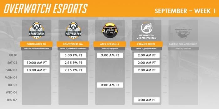Overwatch Event Calendar.September Overwatch Esports Calendar News Overwatch