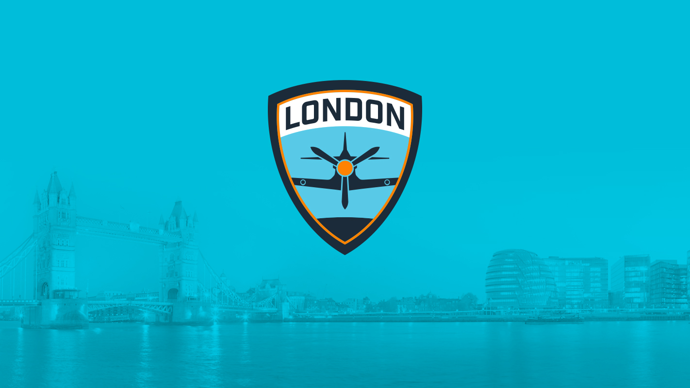 City of London with Spitfire logo