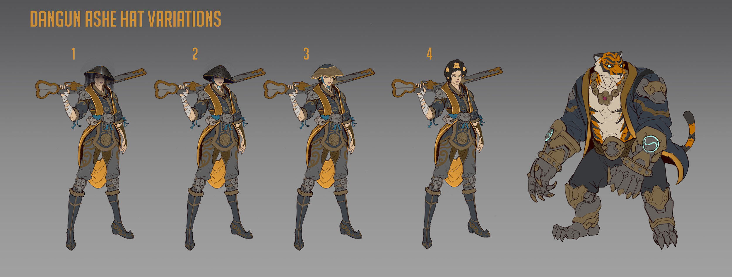 Tiger Huntress Ashe Concept Art