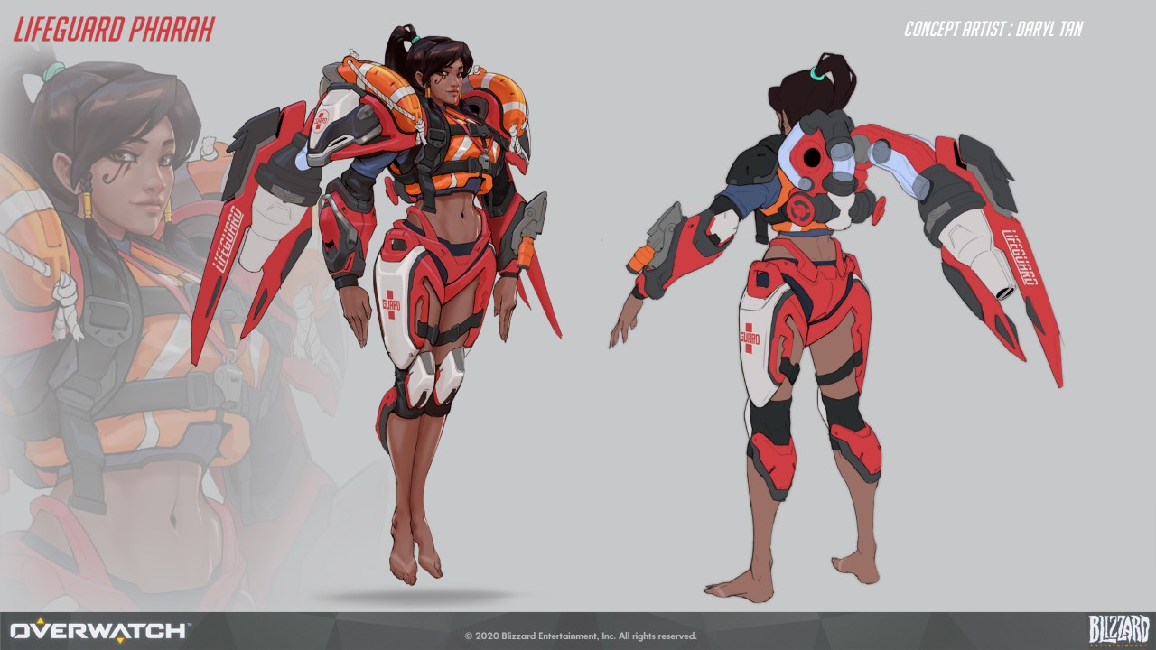 Lifeguard Pharah Concept Art
