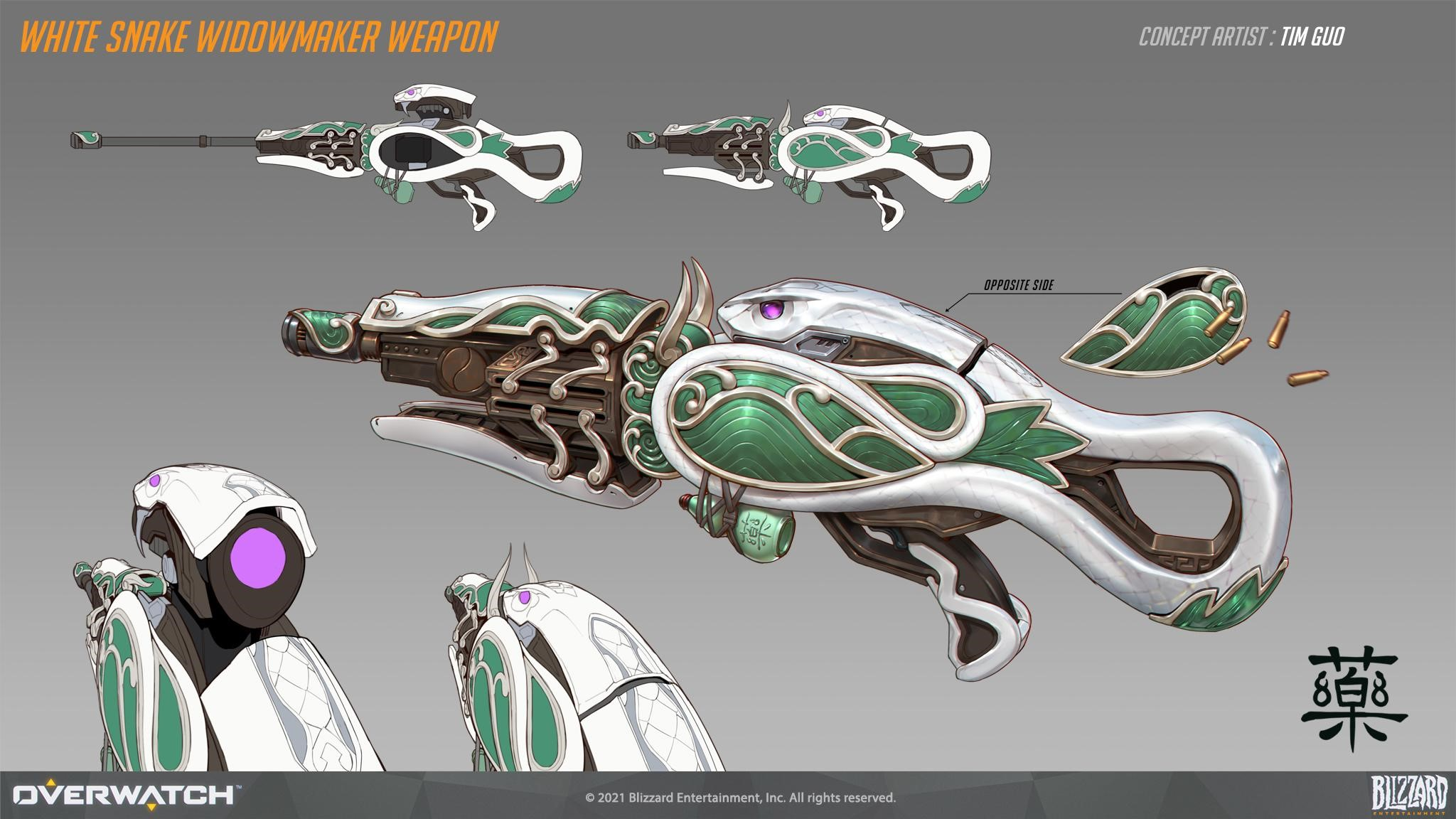 Pale Serpent Widowmaker Weapon Concept Art